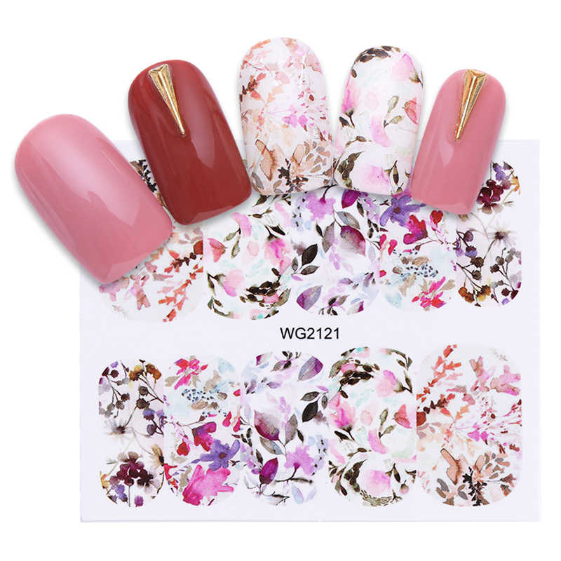 Nail Water Decals Blossom Bloem Vlinder Nail Art Transfer Stickers Sliders Diy Manicure Tips Decoratie