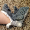 INFANT/ BABY Handmade Shark Crochet Socks - For 0-9 months