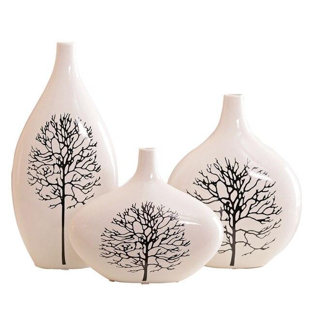 Jingdezhen Moderne Keramik Vase Silver Birch Set Big Size Von Einrichtungs Artikel Wohnzimmer