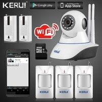 Kerui Ip-kamera Drahtlose Wifi 720 P GSM SMS mit 32G SD karte Smart Home Einbruchmeldeanlage Kamera mit Vibrations sensor