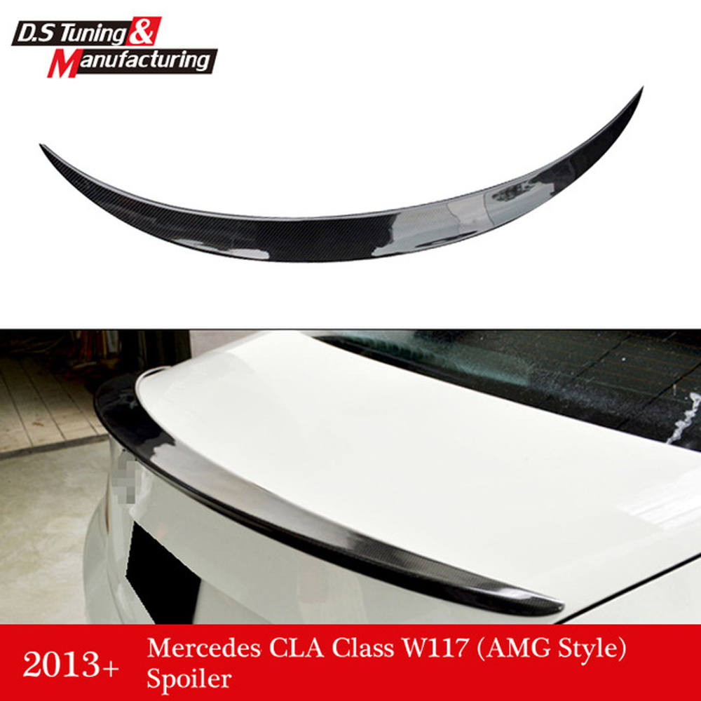 Mercedes CLA W117 AMG style  replacement cf rear trunk wing spoiler for benz 2013+ CLA 180 CLA200 CLA 250 2015 2016 amg style w205 carbon fiber rear trunk spoiler wings for mercedes c class c180 c200 c250 c300 c350 c400 c450 c220
