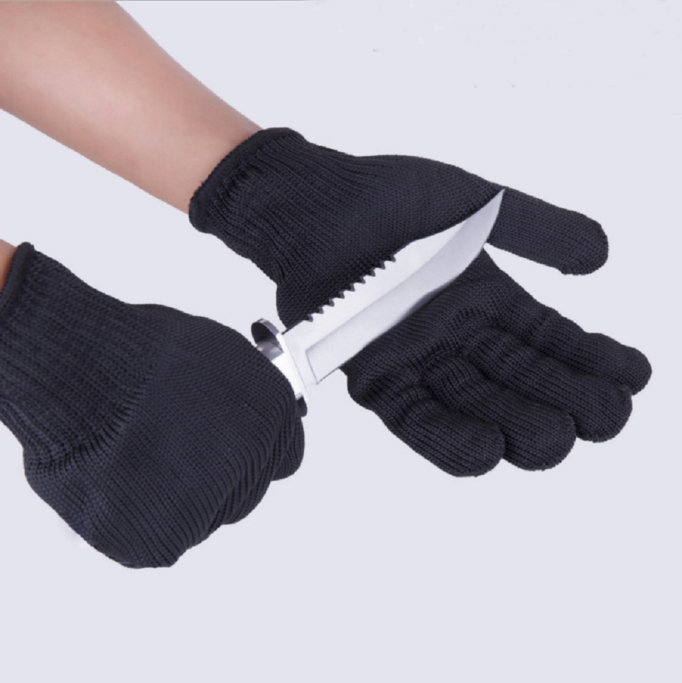 все цены на 24cm 1pair Work Self Defense Personal Working Gloves Safurance Anti-Cutting Cut Resistant Gloves three Stainless steel wire