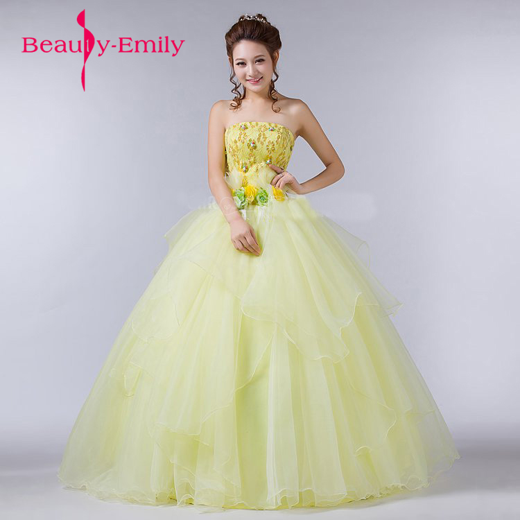 Fancy color spring Evening Dress flower decorated tulle gowns for ...