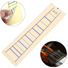 лучшая цена OOTDTY 1Pc Violin Fretboard Sticker Tape Fiddle Fingerboard Chart Marker Finger For 4/4  Phoneme paste