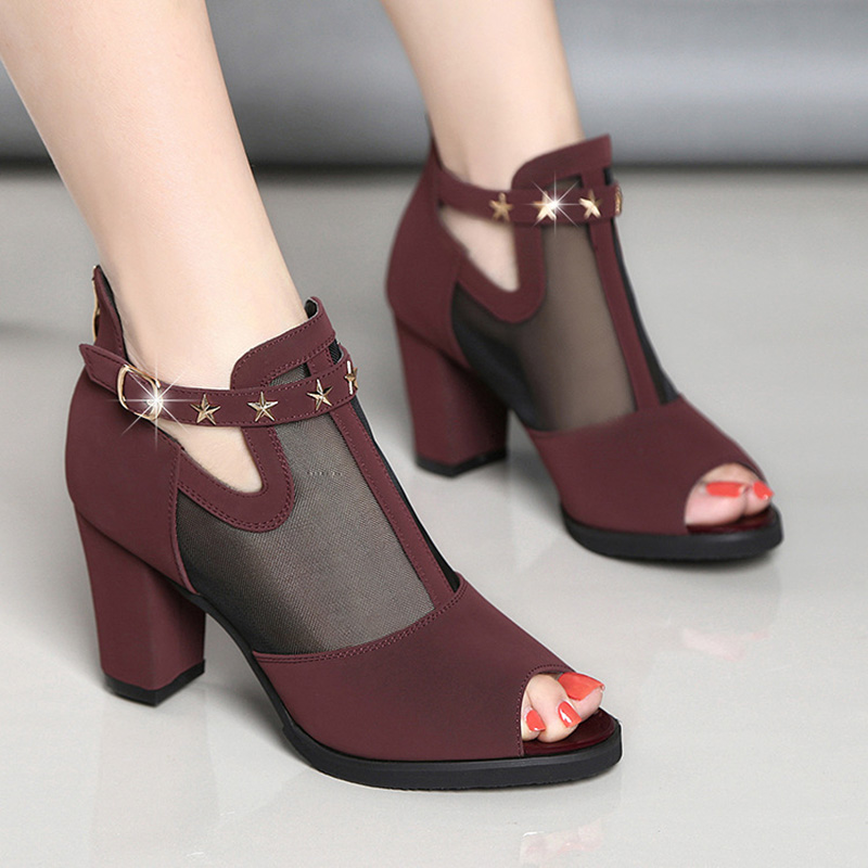 Sexy Ladies High Heels Women Sandals 2019 Summer Peep toe ...