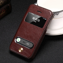 4S 5S Vintage Style Luxury PU Leather Flip Cover Case For iPhone 4 4s 5s 5