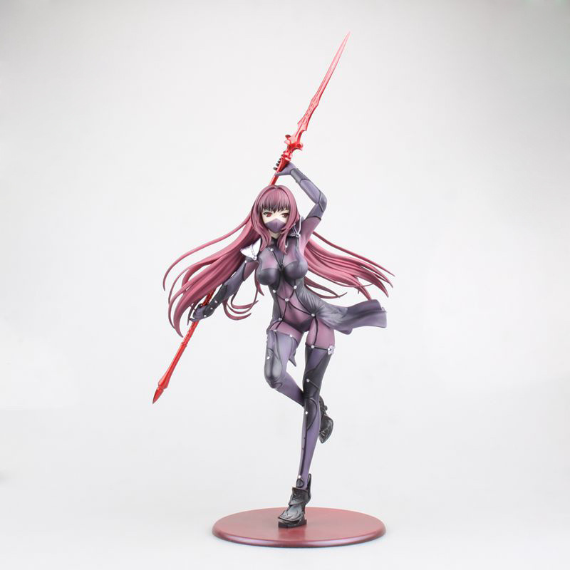 28.5CM pvc Japanese anime figure Fate Grand Order Scathach Lancer holding weapon action figure collectible model toys free shipping 11 fate grand order fgo anime lancer scathach with mask boxed 28cm pvc action figure model doll toys gift
