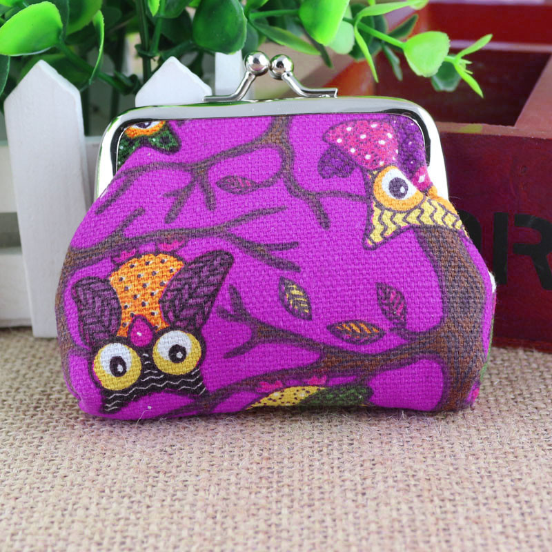 Xiniu New Women Lovely Style Lady Small Wallet Hasp Owl Purse Clutch Bag