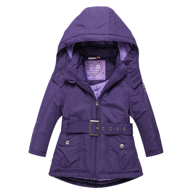 2016 Girls Winter Warm Cotton Coat 2 3 4 5 6 7 8 Years Girl Down ...