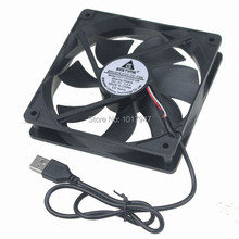 2Pcs Lot Gdstime 5V USB 1500rpm 0.2a 12cm 120mm x 25mm PC Fan Cooler Heatsink Exhaust