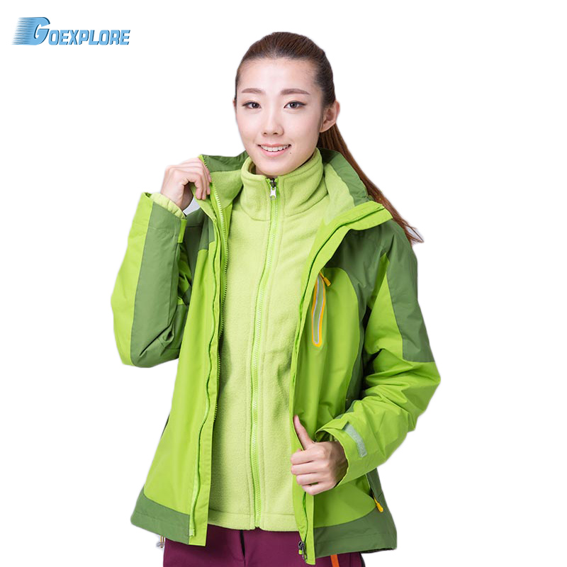 Goexplore New Winter Thicken Cotton Jacket Waterproof Windproof Breathable Coat parkas sport snow outdoor jacket for women women winter coat leisure big yards hooded fur collar jacket thick warm cotton parkas new style female students overcoat ok238