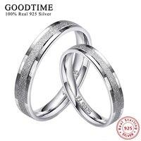 1 шт. 925 серебряных колец для мужчин и женщин 100% Настоящее серебро 925 пробы высокое качество матовые хлопья кольцо пара ювелирных изделий пал...