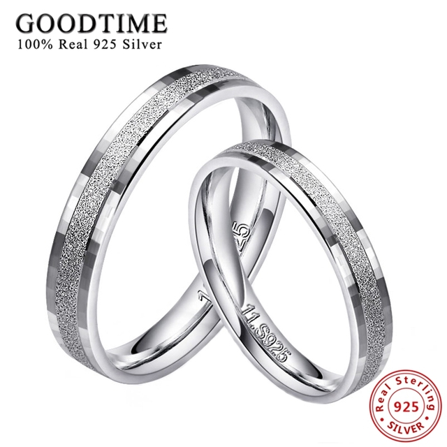 1PCS 925 Silver Rings for Men Women 100% Real 925 Sterling Silver Top Quality Fr