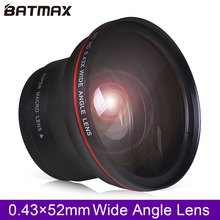 цена на 52MM 0.43x Batmax Professional HD Wide Angle Lens (w/Macro Portion) for Nikon D7100 D7000 D5500 D5300 D5200 D5100 D3300 D3200 D3