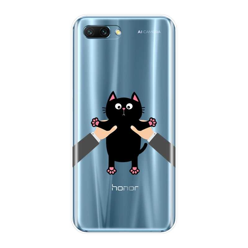 Милый кавайный Кот забавная задняя крышка чехол для Huawei Honor 7 фотоаппаратов моментальной печати 7 S 7X 7A 7C Pro 10 9 8 8X MAX Honor 7 8 9 10 Lite Мягкий силиконовый чехол для телефона