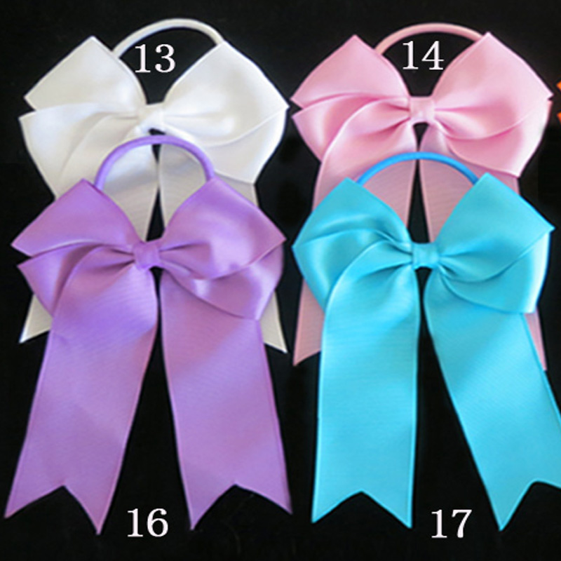 100 BLESSING Good Girl Hair Accessories Long Tail 4.5 Cheer Leader Bow #474 No.