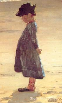 danish art Girl on the Beach Peder Severin Kroyer paintings for sale High quality Hand painted