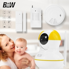 Home Security Camera Infrared Baby Monitor Wifi Smart Camera IP with Door sensor/Infrared Motion Sensor and Smoke Detector BW12Y