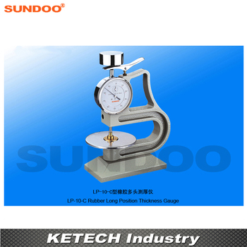 Sundoo LP-10-C  Vulcanized Rubber and Plastic Long Position Rubber Thickness Gauge