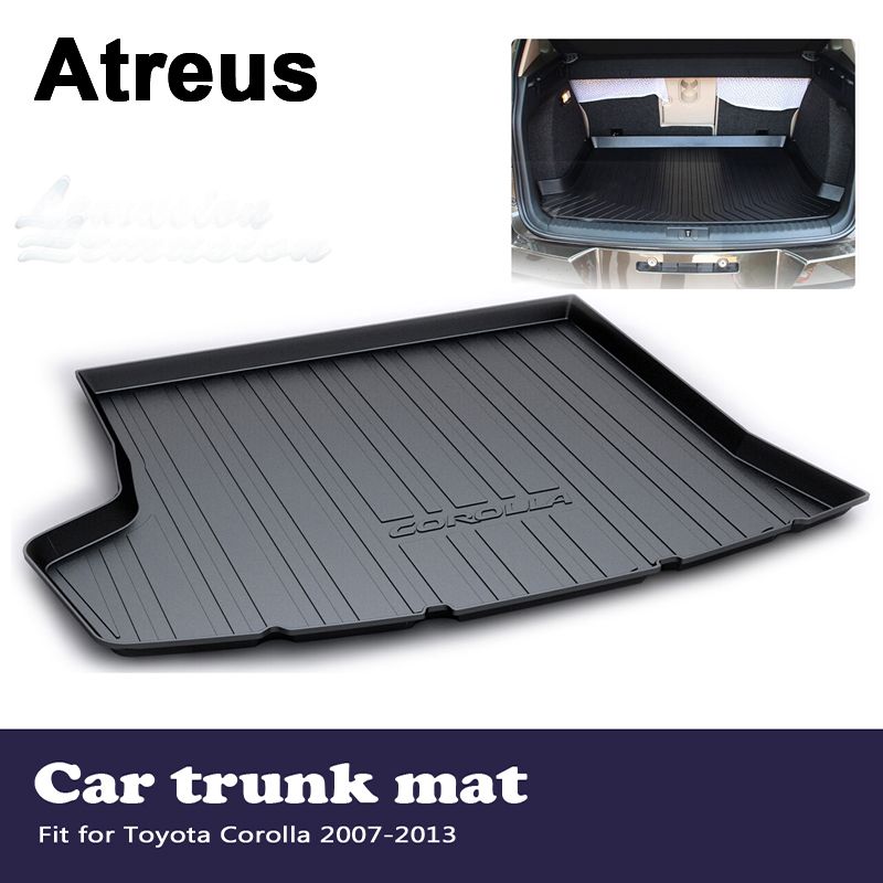 Atreus Car Waterproof Anti-slip Trunk Mat Tray Floor Carpet Pad For Toyota Corolla E140/E150 2007 2008 2009 2010 2011 2012 2013 for hyundai tucson 2006 2007 2008 2009 2010 2011 2012 2013 2014 waterproof anti slip car trunk mat tray floor carpet pad