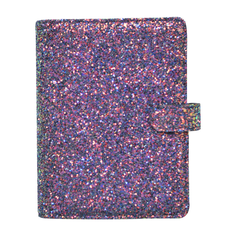 Image 3 - Lovedoki 2019 Sequins Series Binder Notebook Korean Cute Spiral Planner Personal Diary Book Charismatic Purple School Stationery-in Notebooks from Office & School Supplies