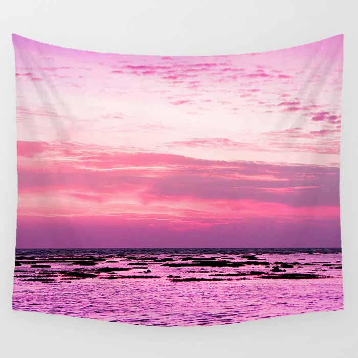 Hot sale pink sky good morning many patterns wall hanging tapestry home decoration wall tapestry tapiz pared
