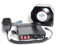 200W Car Alarm Siren 7 Tone Loudspeaker Horn Police Horn Megaphone Car Styling Ultra Slim Metal Speaker Buzzer