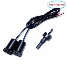 JingXiangFeng 2 PZ Lampada LED Car Logo Proiettore Auto Decorative Porta Benvenuto Luce 3D Lampada Laser Santo Shado Caso Per Skoda