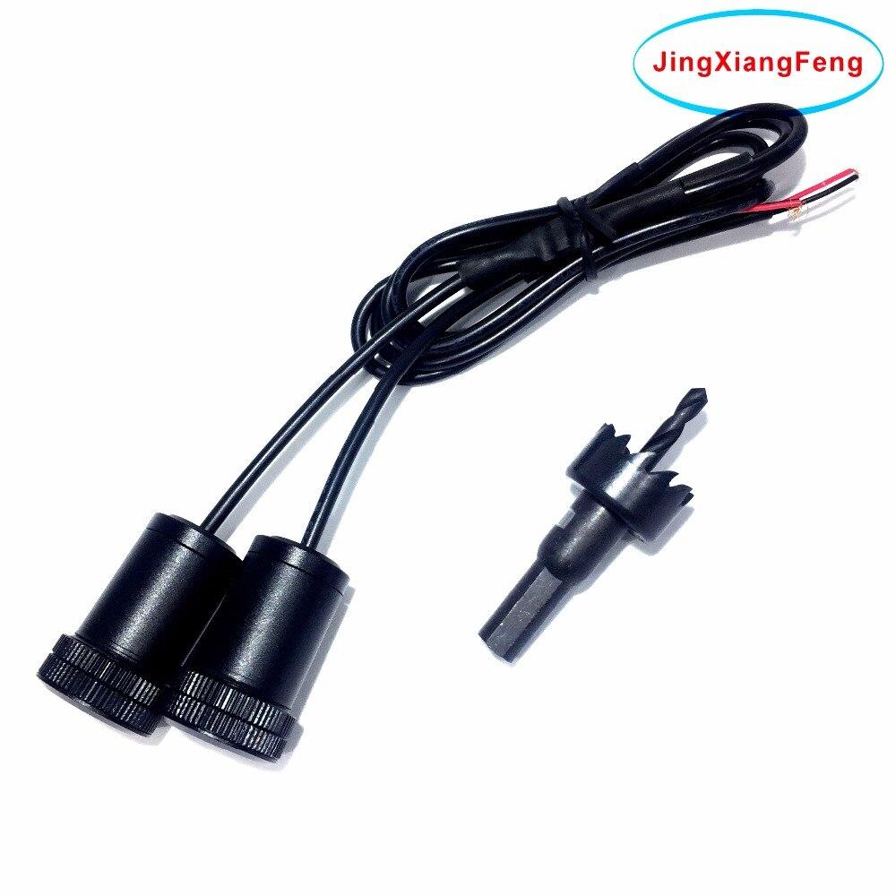 Jingxiangfeng 2 unids lámpara LED car logo proyector coche decorativo Bienvenido puerta luz 3D lámpara laser Ghost shado para skoda