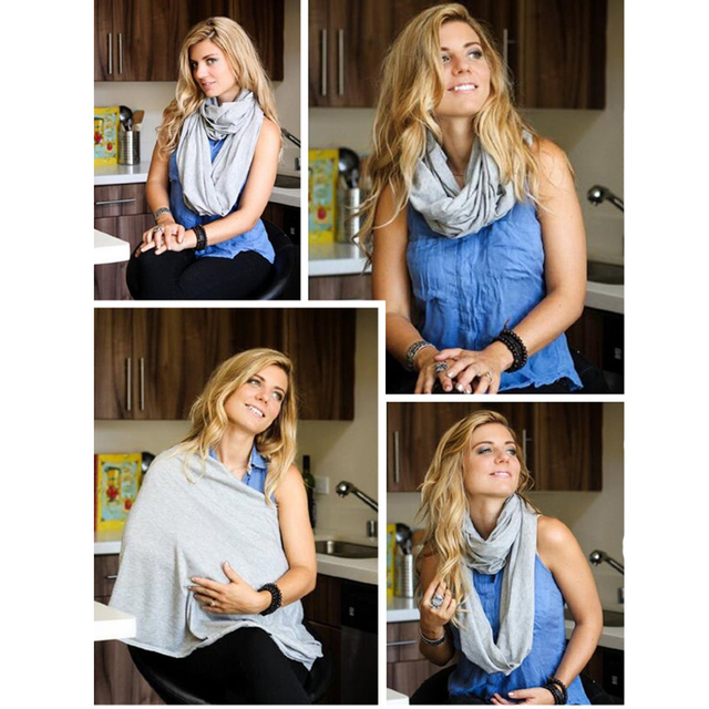 Solid Colour Nursing Scarf – 100% Cotton , Soft, Lightweight, Breathable Material