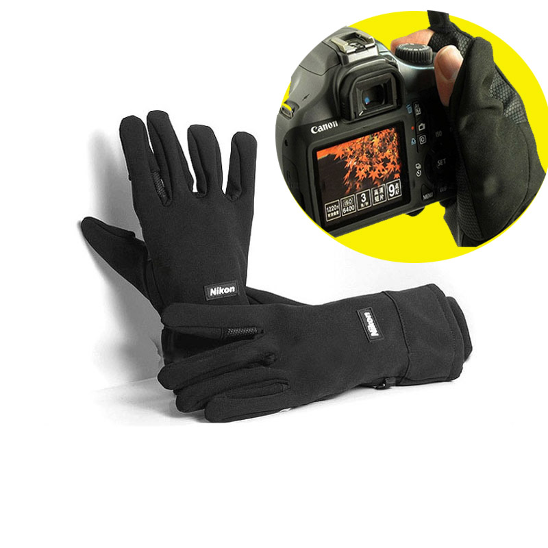 En plein air Étanche non-slip gants de tir pour nikon D800 D810 d7000 d5100 d5000 d3100 D610 D500 D4 4S D750 3400 D850 D320 D90