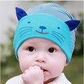Bebé recién nacido Sombrero de Otoño Invierno Del Bebé Gato de la Historieta del Casquillo Infantil Del Algodón de la Gorrita Tejida Caliente de Los Niños Accesorios de Vestir Sombrero Lindo