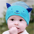 Outono Chapéu Chapéu do Inverno Do Bebê recém-nascido Do Bebê Cap Infantil Algodão Beanie Quente Gato Dos Desenhos Animados Crianças Roupas e Acessórios Chapéu Bonito