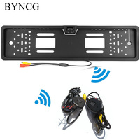 Wireless Rear View Camera European Car License Plate Frame Auto Reverse Rear View Backup Camera Universal CCD IR Night Vision
