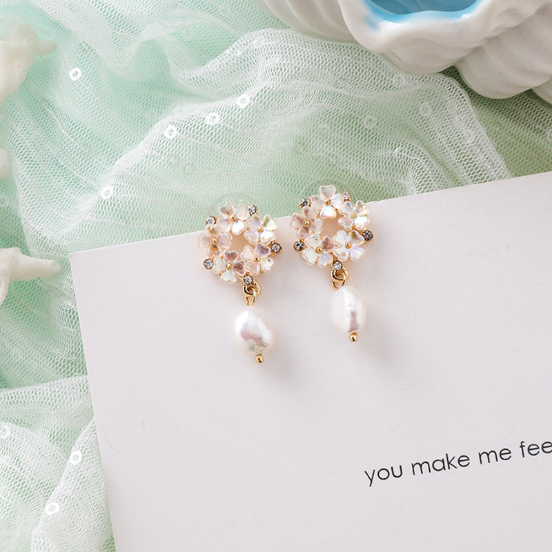 MENGJIQIAO New Korea Japan Elegant Shell Starfish Drop Earrings For Women Sweety Simulated Pearl Pendientes Girl Party Jewelry 31
