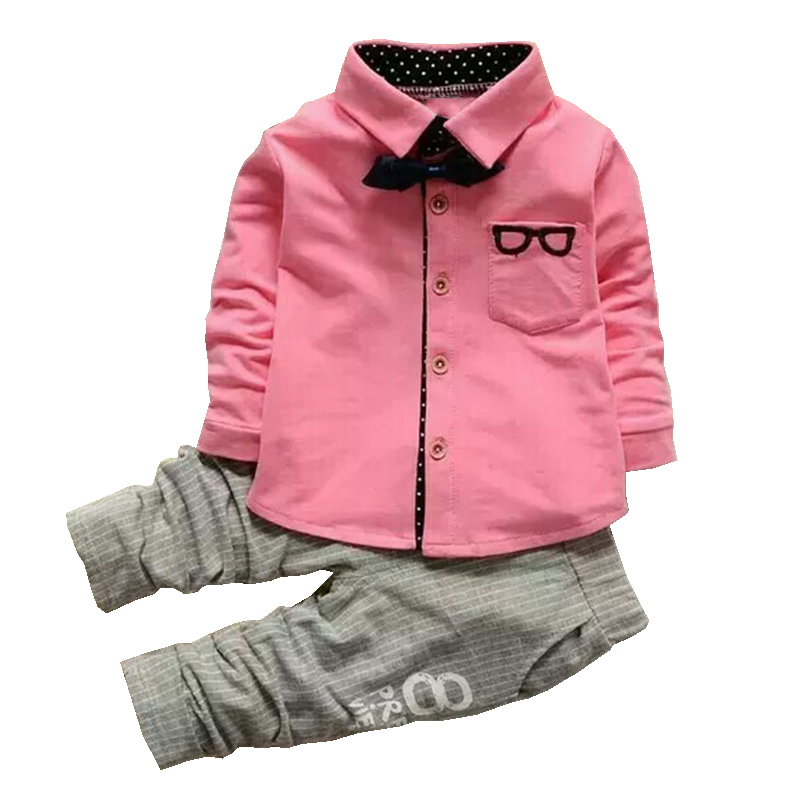 Toddler Boys Sets Gentleman Clothing 2PCS Newest Style Kids Blouses And Top T-shirts Toddler Outfits Set 1-4 Years Outwear autumn boys gentleman clothing sets baby boy clothes suit shirts overalls jeans kids jumpsuit 2pcs set for 2 3 4 5 6 7 years