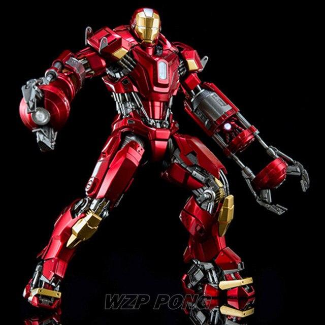 27 cm de Super-heróis Vingadores Homem De Ferro Mk35 Batalha Forma Bonecas Brinquedos De Metal Estatueta Conjunto Móvel Action Figure Toy Collectible Modelo