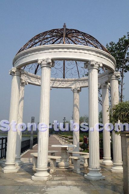 stone outdoor patio carving roma columns gazebo garden design ideas on round swimming pool designs, round tree house designs, round stained glass designs, round jewelry designs, round patio designs, round kitchen designs, round gate designs, round chimney designs, round picket fence designs, round ironwork designs, round art designs, round pottery designs,