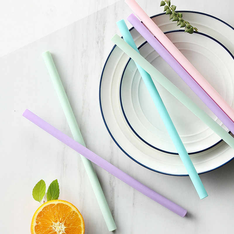 New Food Silicone Straw Juice Milk Tea Drinks Party Supplies