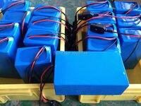 Fedex frete grátis bicicleta elétrica da bateria 72 V 30Ah com carregador, Bms de iões de lítio Electric Bike bateria recarregável