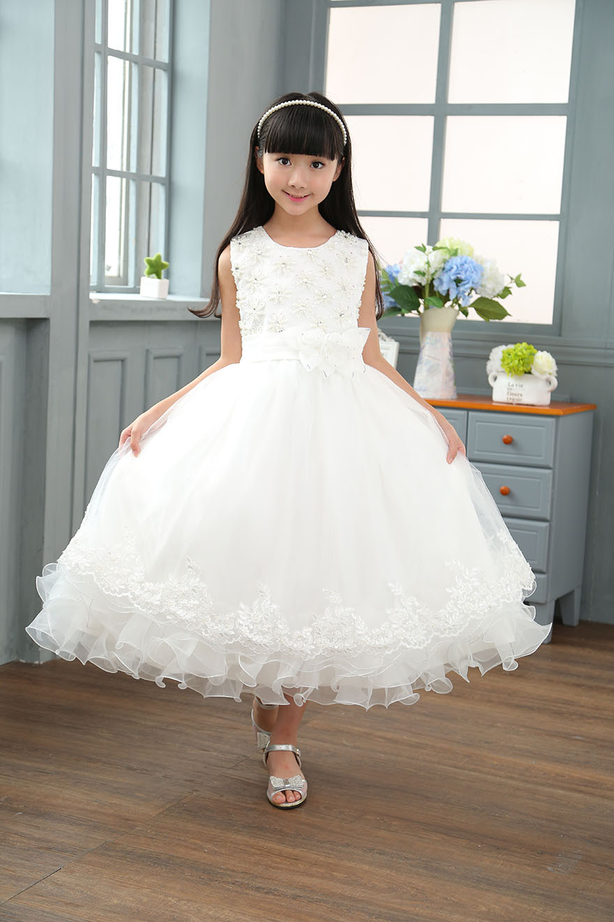 Royaume-Uni disponibilité 1d42d 87973 US $26.9  Girls Clothes 7 Years Robe Princesse Enfant Fille Ceremonie Kids  Floral Holiday Dress 4th of July Children Dress 6 Years Old-in Dresses from  ...