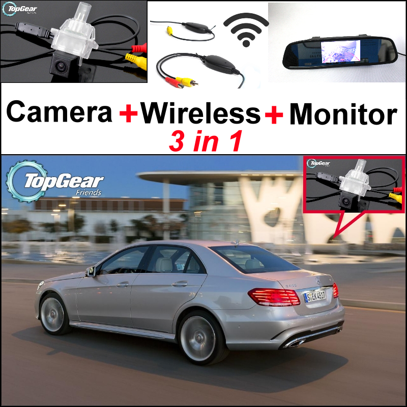 3in1 Special WiFi Car Camera + Wireless Receiver + Mirror Screen Parking System For Mercedes Benz E MB W212 2013~2015 Facelift русская история