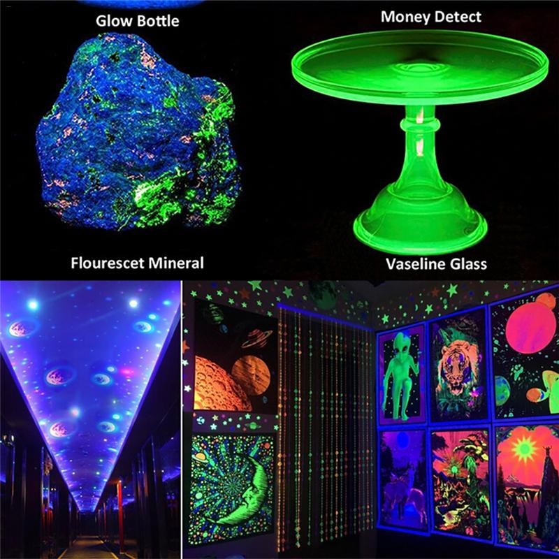 Black Light Effect Stage Bar Haunted House Rays Paint Sterilizer Ink Glass Cure Glue Tube UV 395 400 NM Led Ultraviolet Lamp 40