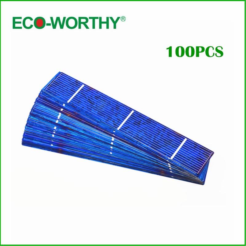 ФОТО 100 Pcs 1x6 Inch Solar Cell for DIY 50W 18V Solar Panel, Polycrystalline Solar Cells