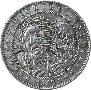 Hobo Nickel 1885-CC USA Morgan Dollar COIN COPY Type 126(China)