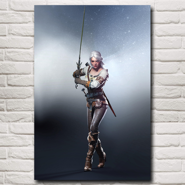 The Witcher 3 Wild Hunt Ciri Cirilla Fiona Elen Riannon Game Art Silk Poster Home Decor Printing12x18 32×48 Inch Free Shipping