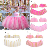 Baby Children Birthday Party Tutu Chair Skirt Infant Baby Shower Kid S Birthday Party Dinning Table