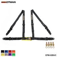 EPMAN 2 Racing Seat Belt Buckle 4Pt 4 Point Nylon Strap Safety Harness Universal EP EPM
