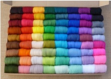 mylb Wholesale 36pcs/lot Wool Fibre Wool Yarn Roving For Needle Felting materials free-shipping new arrival