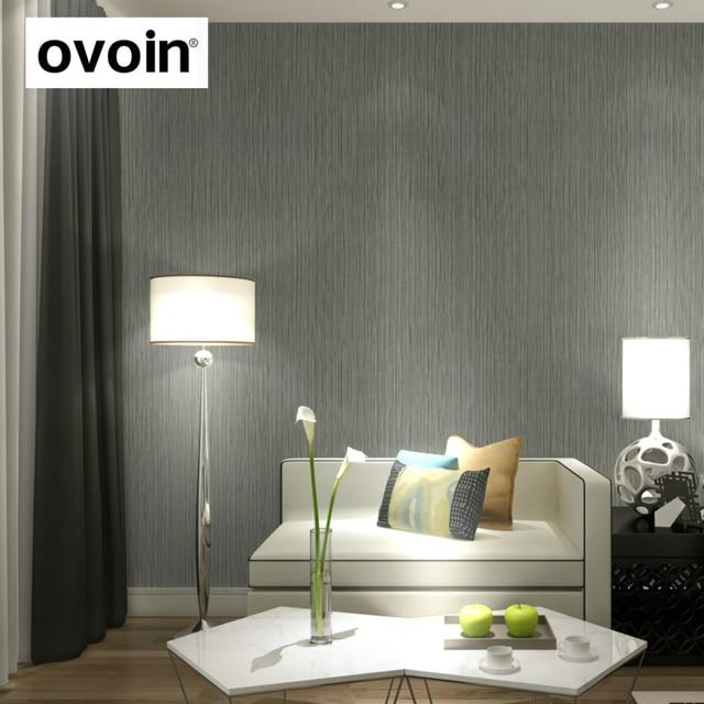 Plain modern silver vertical stripes wallpaper roll for Cheap plain grey wallpaper